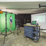 Beispielaufbau im cubus.tv Mietstudio mit Greenscreen